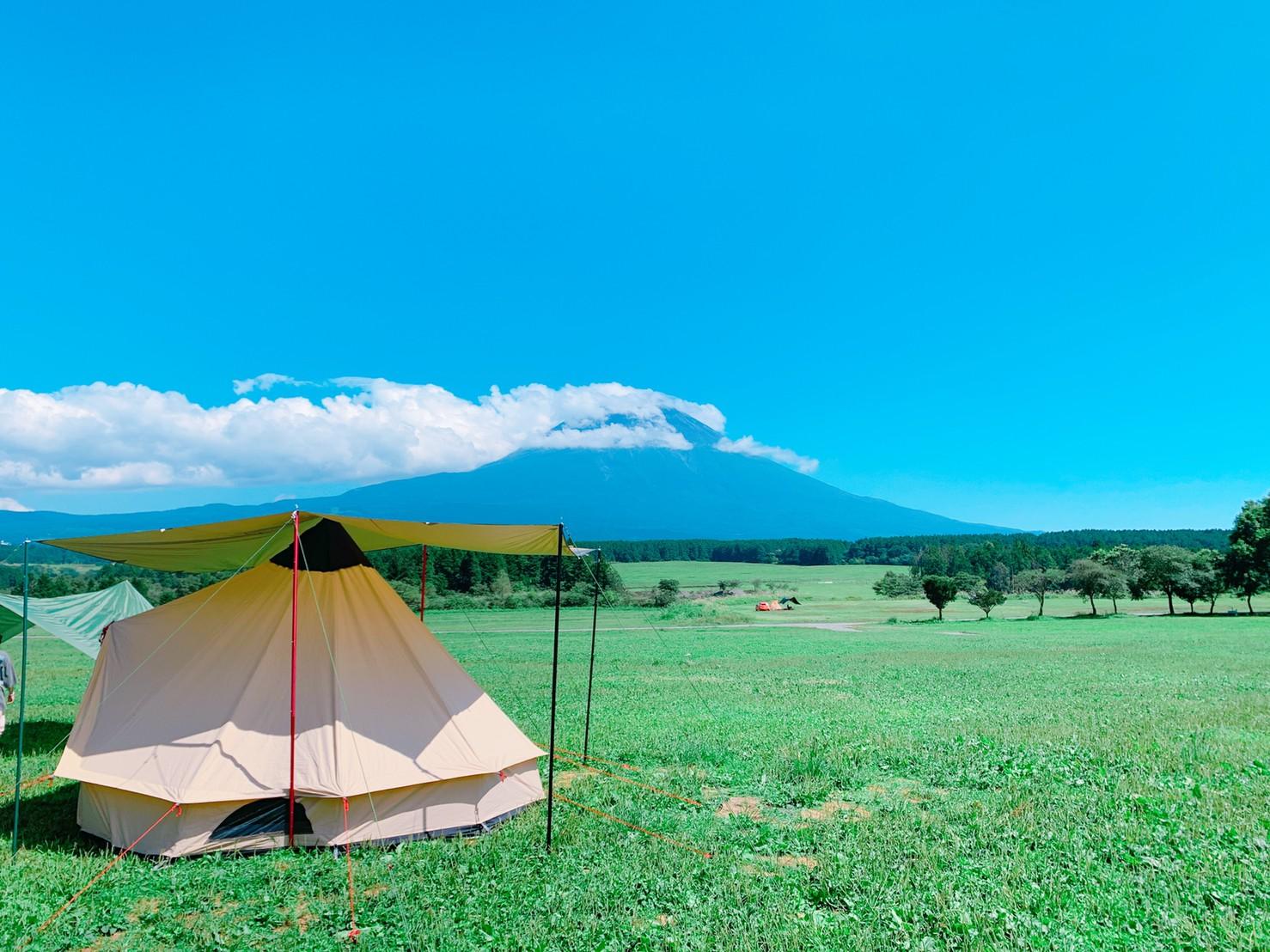テント設営写真